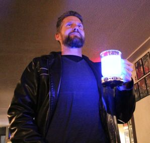 Creator of the glowing mug, Devin Melanson (from Copy Red Leader), proudly goes where no audience member has gone before