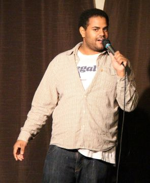 Brandon Ash-Mohammed throws some zingers at the audience