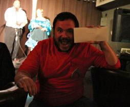 redshirt Zach makes off with a Silver Snail gift pack