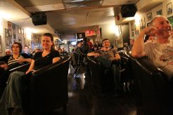GenMo audience having a great time at Close Shave