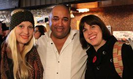 Two Mo'Sistas congratulate Dale on a successful event