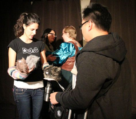 Debs and Errol adopt some Tribbles post show