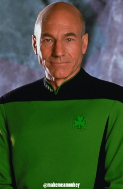 Sir Patrick Stewart, patron saint of making it so!