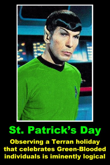 Spock finds Irish history more fascinating than those created by emigrants.