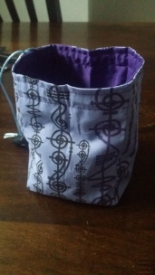 Geeky Pleasure dice bag is hungry