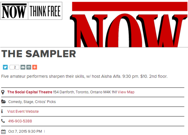 nowtoronto-critics-pick-sampler-oct7