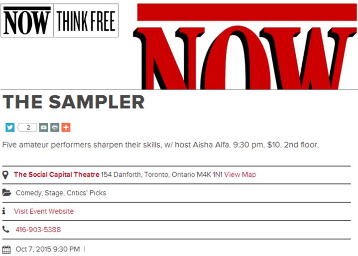 nowtoronto-critics-pick-sampler-oct7