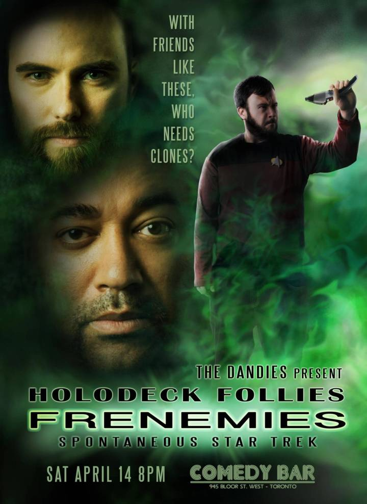 Frenemies poster featuring Dale Wells, Chris Casselman, and Zach Mealia.
