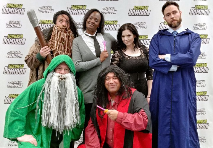 The cast of Hogwarts Follies, at Toronto Comicon